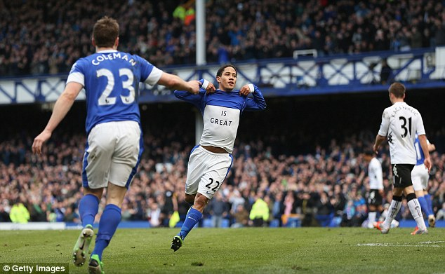 God is great: Steven Pienaar showing off his spiritual side after his goal
