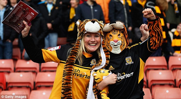 Travelling support: 4,000 Hull fans made the trip to Barnsley