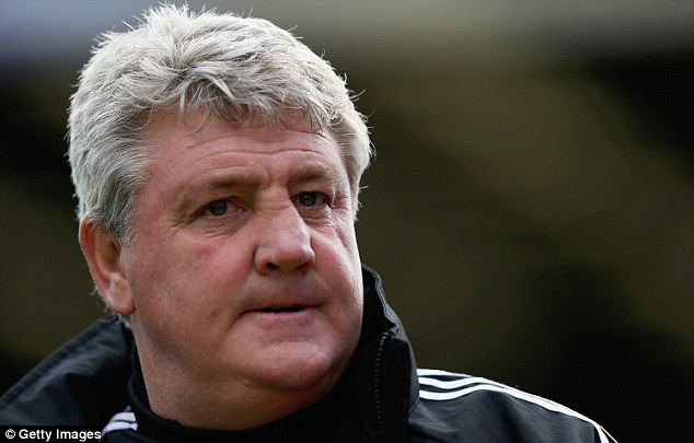 Not going to plan: Hull City boss Steve Bruce will be disappointed with his team's first-half display