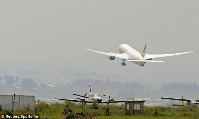 Ethiopian Airlines' 787 Dreamliner takes-off on its first journey since global fleet was grounded in January