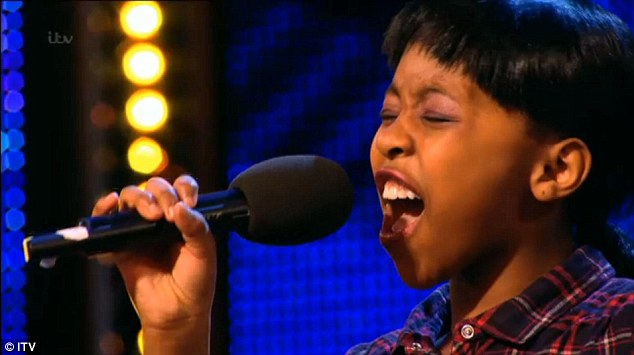 Vocal talents: The mini diva blew the judges away with her performance
