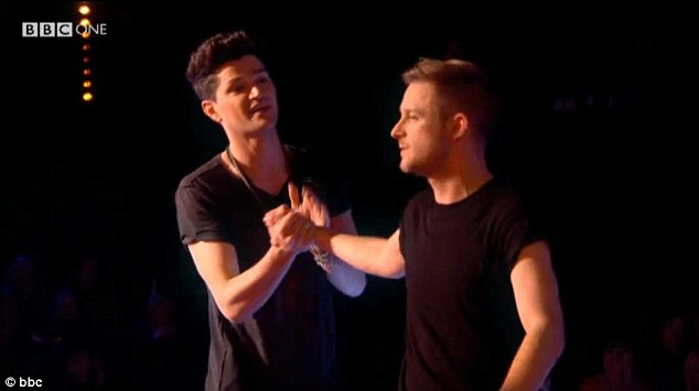 Next chapter: Paul Carden shakes hands with his new mentor, The Script's Danny O'Donoghue