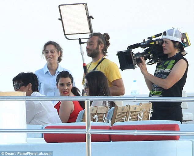 Kim and her family were joined by a TV crew, speculating that the holiday will be on their reality TV show