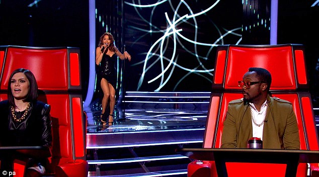 Not quite up to scratch: The judges thought that her rendition of a Paloma Faith song wasn't quite good enough to go to the second round