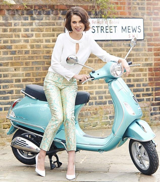 Blouse, £85, reiss.co.uk; Jacquard capri pants, £150, J Crew at net-aporter.com; White stilettos, £60, office.co.uk