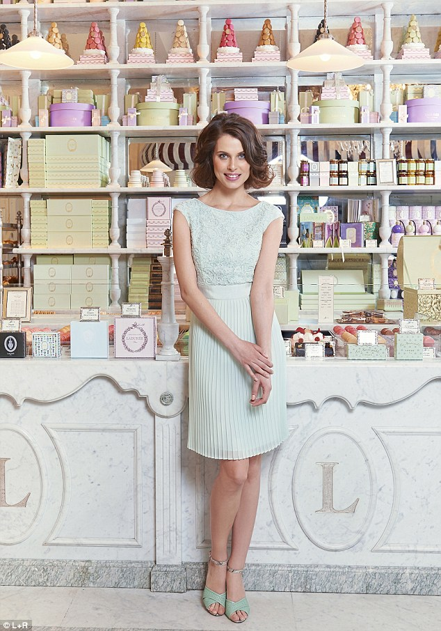 Aliana lace dress, £179, tedbaker.com; Snakeskin sandal, £110, bananarepublic.co.uk