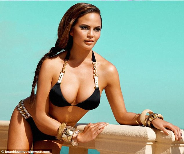 Fine filly: It is easy to see the substantial assets that have made her a hit model for Beach Bunny Swimwear