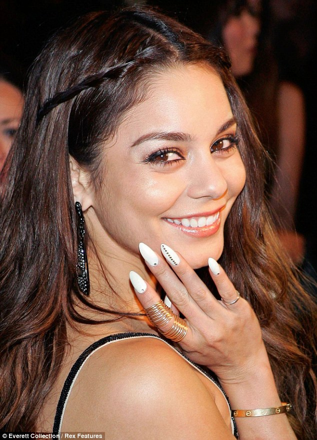 She nailed it: The former Disney favourite could not stop showing off her new look manicure