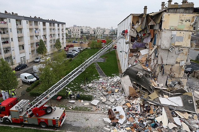 The explosion took place in a subsidised housing complex in the city east of Paris, leaving people trapped under the rubble