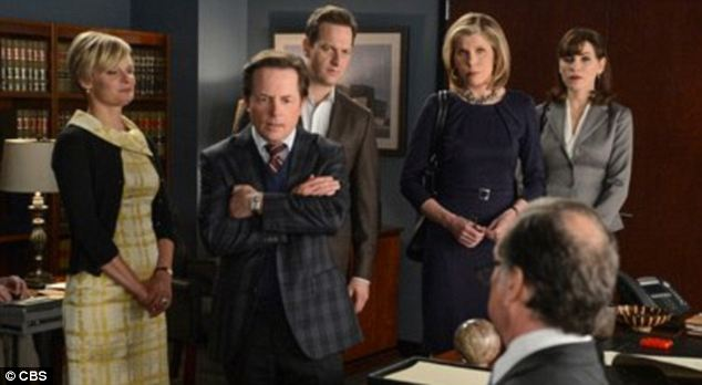 Ensemble: Martha Plimpton, left, won an Emmy for 'The Good Wife,' which also stars Josh Charles, center left, and Tony winner Christine Baranski