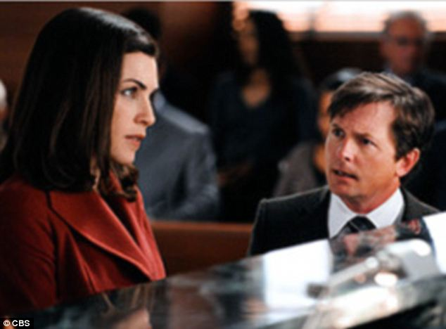 Talent: The acclaimed CBS drama has seen many talented guest stars including Michael J. Fox (right, with series star Juliana Margulies)