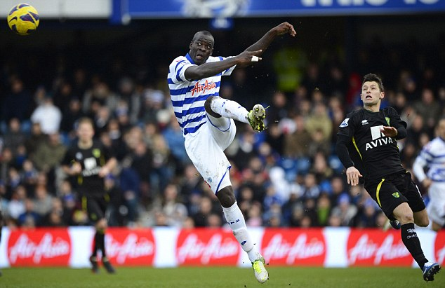 Missing out: Chris Samba is dropped from the QPR squad