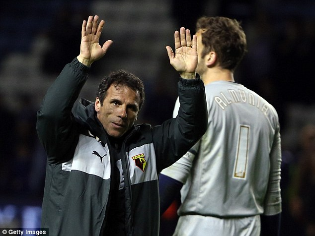 The little master: Gianfranco Zola has done well in his first season at Watford