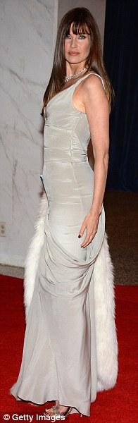 Elegant ladies: Anna Wintour, Robin Wright and Carol Alt looked statuesque in their floor-length gowns