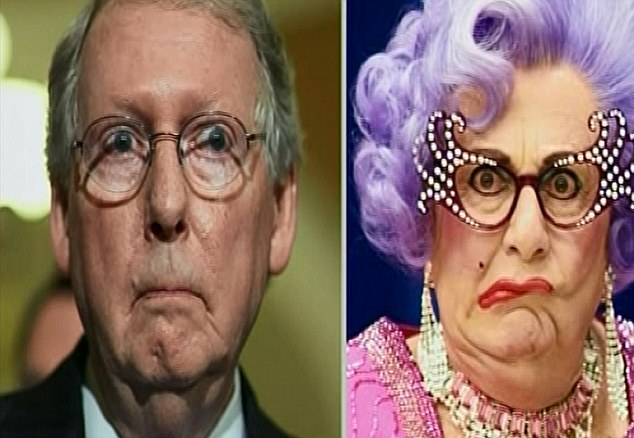 Hello Possums! Mitch McConnell would be played by Dame Edna Everage