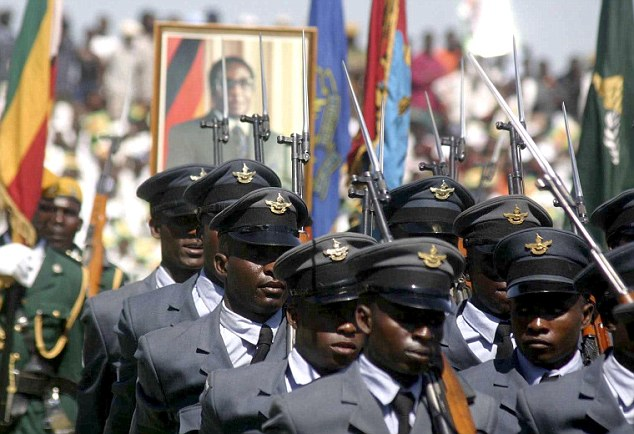 Horror: The Zimbabwean solider (not pictured here) reported his ordeal and police have launched a hunt for the suspects