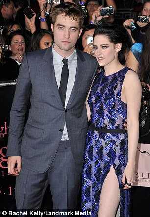 Robert Pattinson and Kristen Stewart at the Los Angeles premiere of The Twilight Saga in 2011