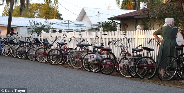 Bicycles galore: There is no shortage of bicycles in Pincraft, as that's the main form of transportation here