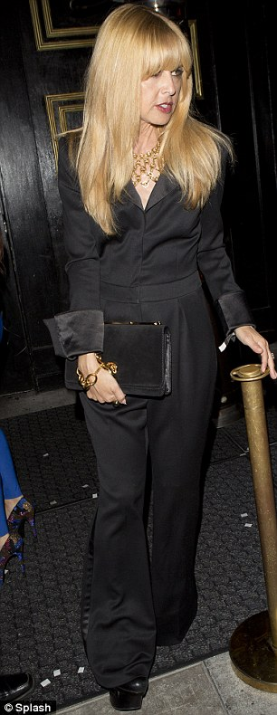 Studio 69: The A-list stylist brought her signature 70s touch with a satin black jumpsuit