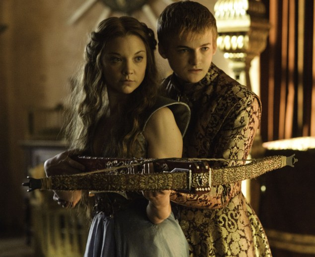 Loathsome young king Joffrey (right, played by Jack Gleeson) and his ambitious bride-to-be Margaery Tyrell (Natalie Dormer)