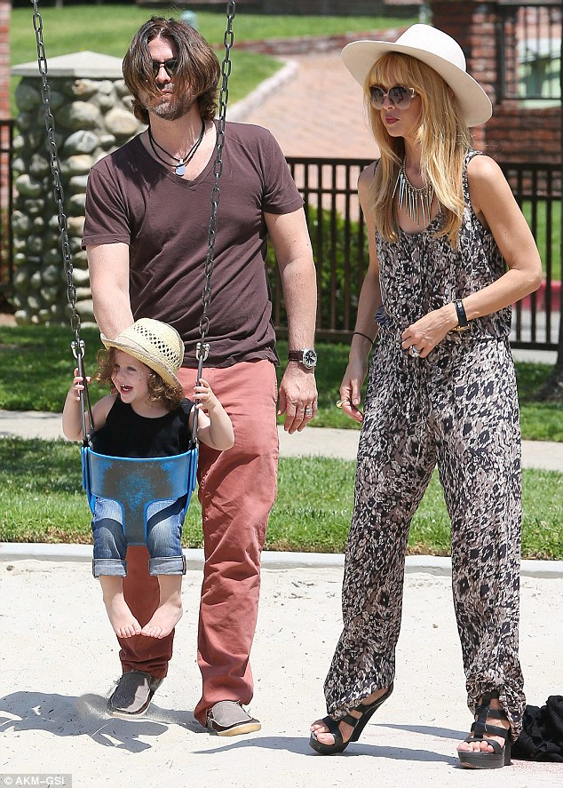 Sunny Sunday: Rachel Zoe and her husband Rodger Berman took their son Skyler out for a day in the park in Beverly Hills on Sunday