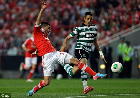 Incoming? Sporting Kusvib's Tiago Ilori could be the long-term replacement for Jamie Carragher