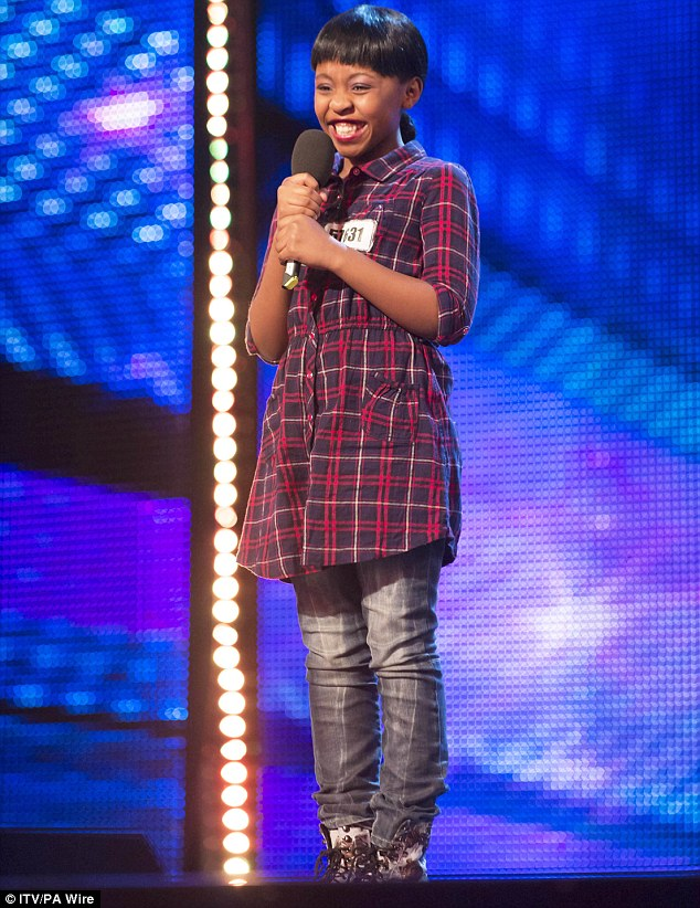 Controversial: Britain's Got Talent contestant Asanda Jeszile shocked viewers with her performance of Rihanna's Diamonds on Saturday night