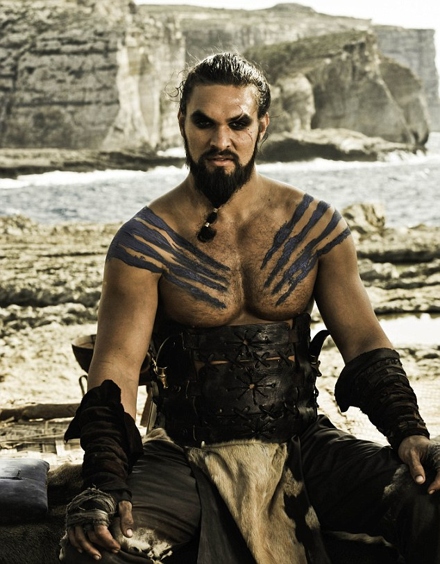 Warrior, warlord and the love of dragon queen Daenerys Targaryen's life, Khahl Drogo, played by Lisa Bonet's husband Jason Momoa