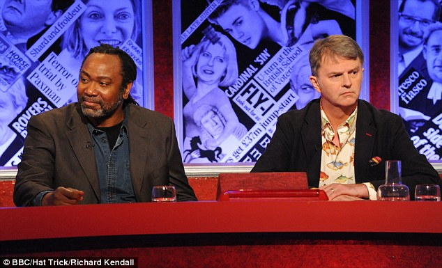Big name: Hunter appeared on the BBC's Have I Got News For You with Paul Merton on Friday