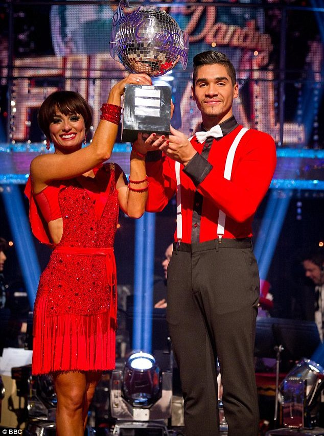 Fancy footwork: Louis danced his way to the Strictly Come Dancing glitter ball trophy