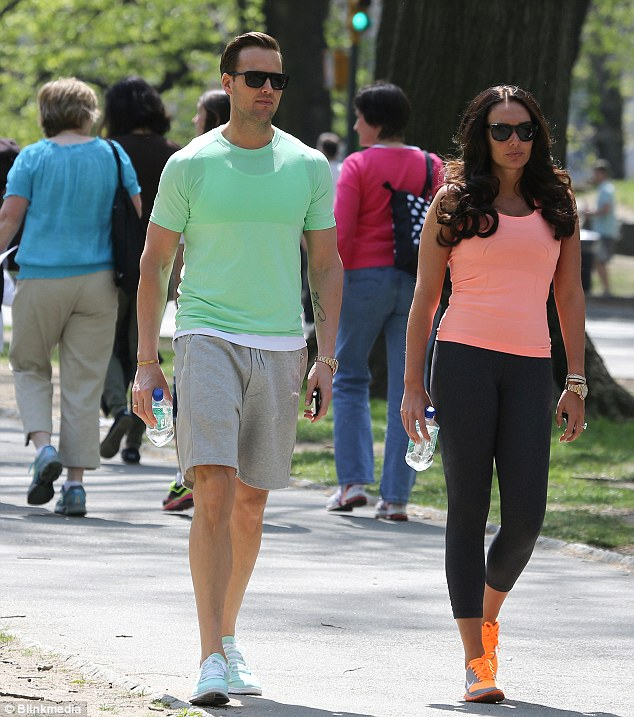 Coordinated: The friends both matched their T-shirts to their trainers for stylish work-out looks