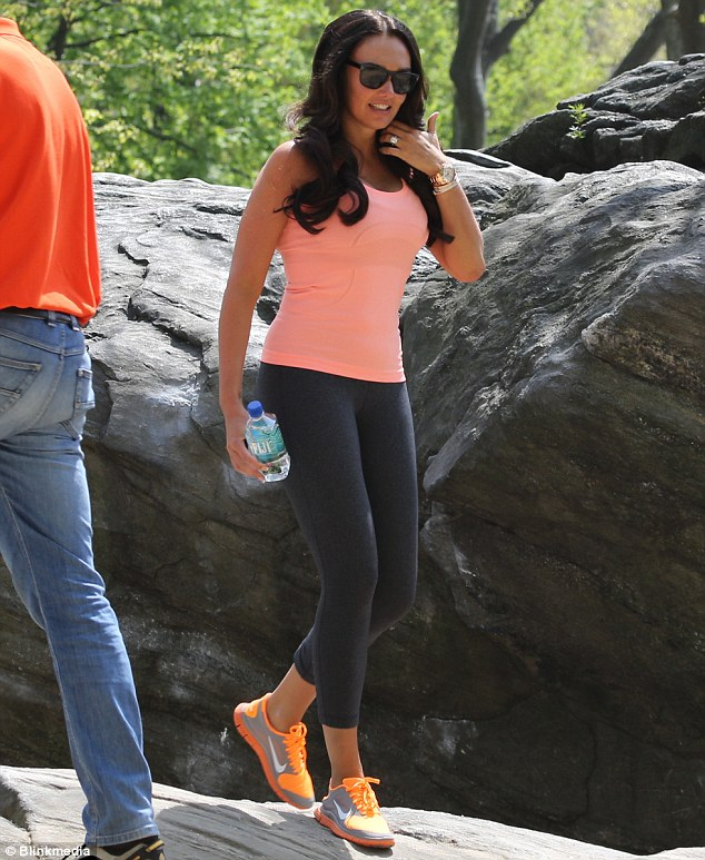 That looks tough: Tamara Ecclestone was seen exercising in New York over the weekend