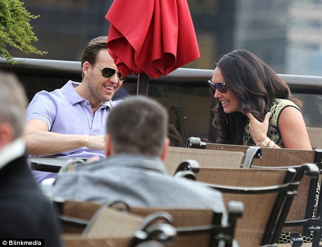 Laughs: Tamara and Scott chatted and laughed away with each other