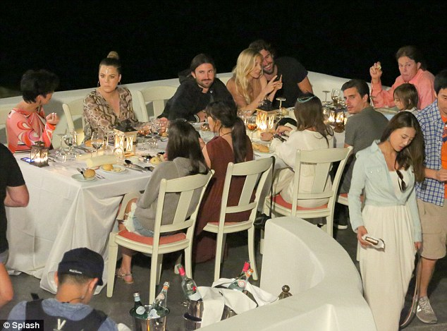 Reality bites: The Kardashians have been holidaying in the Greek islands since Thursday as part of their reality show