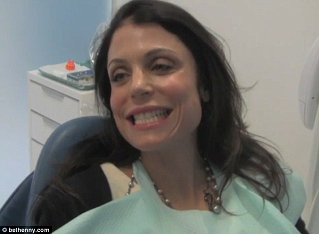 Pearly whites: Bethenny Frankel brightened her smile from Candy Corn to Marshmallow