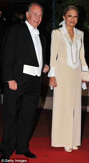 Proud: The Aga Khan, pictured at a dinner in Monaco in July 2011 ahead of the marriage of Prince Albert of Monaco