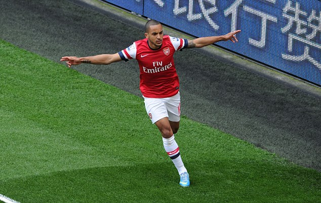 Rival? The winger is often compared to forward Theo Walcott