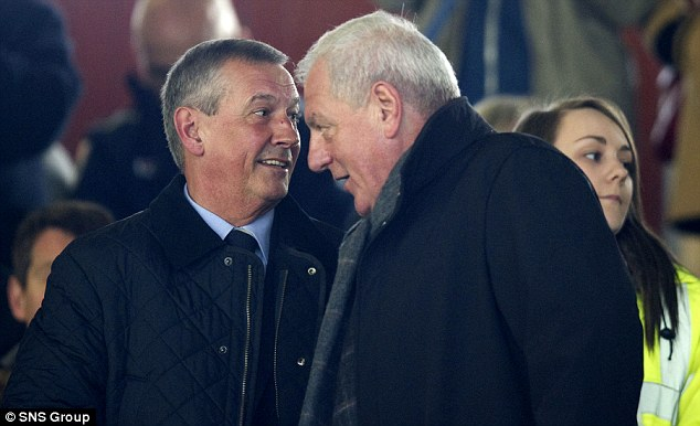 Watching on: Former Rangers manager Walter Smith was at Firhill