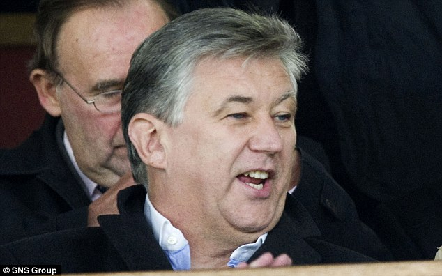 Watching on: Celtic Chief Executive Peter Lawwell was at Firhill