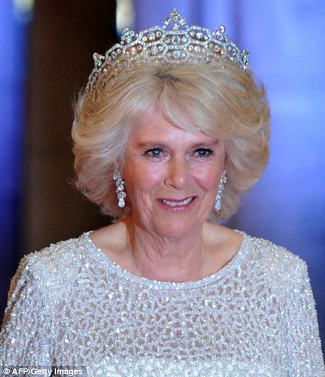 Camilla, Duchess of Cornwall, wore a magnificent diamond tiara to the event