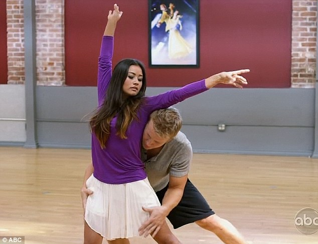 Dirty dancing:The Bachelor star Sean Lowe had trouble showing 'love' in his dance with Peta Murgatroyd, so she bought in his fiancé Catherine Guidici