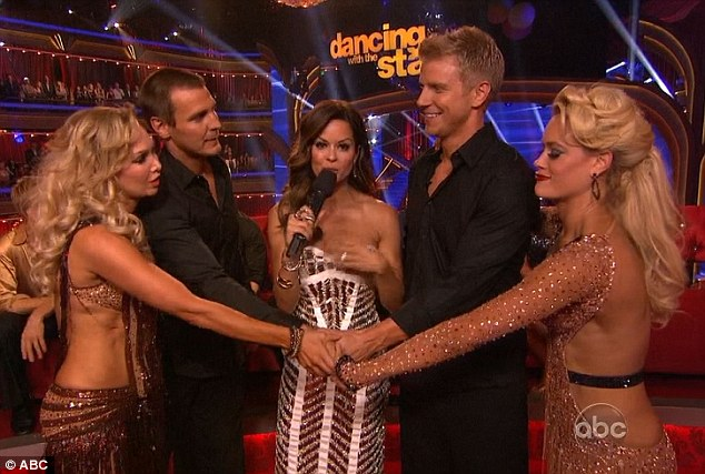 Battle of the hunks: Sean and Peta had to rumba against Ingo and and fellow Australian Kym