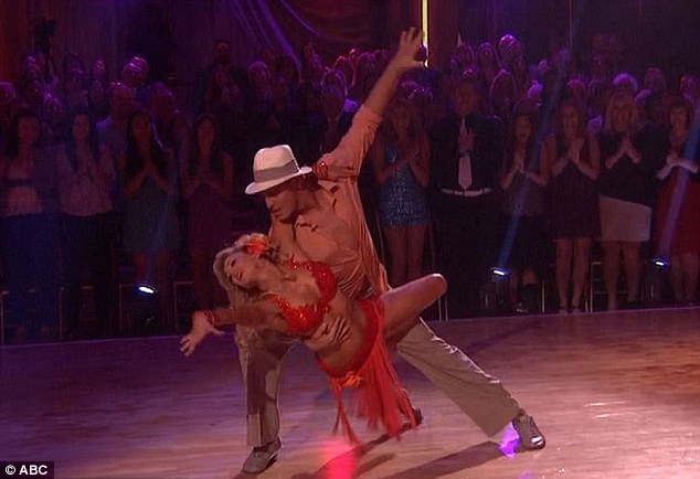 Hips don't lie: Next up General Hospital heartthrob Ingo Rademacher attempted to parade his sexy side with a 'romantic rumba' with pro Kym Jackson but it came over a little wooden