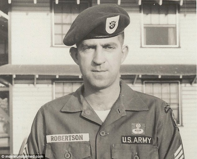 Discovery: Special Forces Green Beret Master Sgt. John Hartley Robertson is the subject of a documentary which claims to have found him alive - now revealed as incorrect - 44 years after he supposedly died in Vietnam