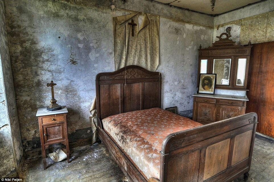 Mould: Beds feature heavily in the Disciple of Decay series, as do religious pictures and crosses