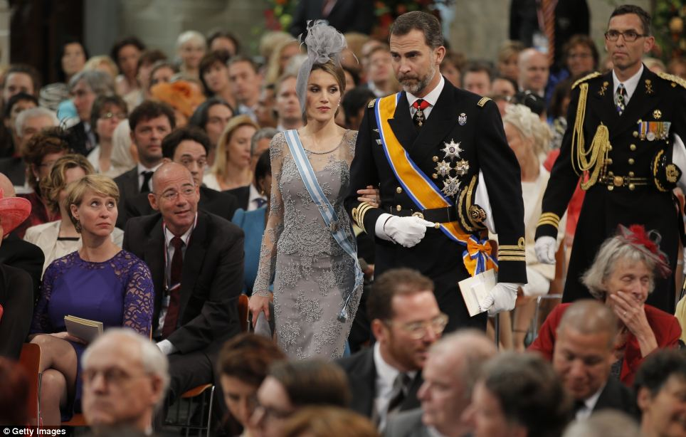 Princess Letizia of Spain and Prince Felipe of Spain attend the inauguration