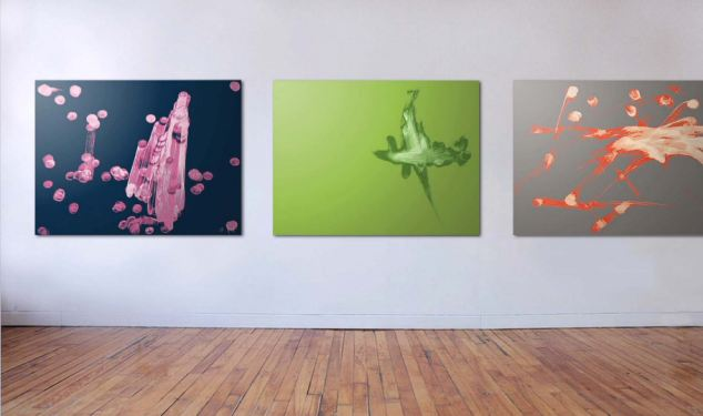 A selection of the Invisible Hieroglyphics prints at the Frontrunner Gallery in New York