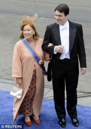 Dutch Princess Christina and her son Bernardo