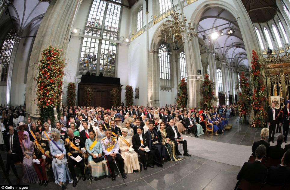 Future: In a speech in the church, Europe's youngest monarch spoke of the ceremonial nature of his monarchy but also the economic value a king can deliver on state visits aimed at drumming up trade