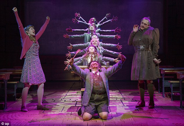 Most impressive: Matilda The Musical earned 12 Tony nominations but will be competing with Kinky Boots for the big prize